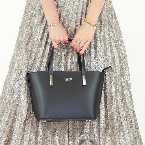 Plain genuine leather handbag art. 037
