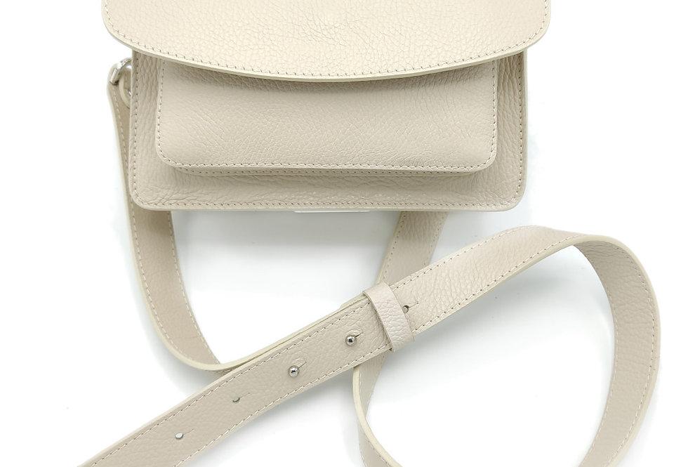 Tumbled genuine leather shoulder bag art. 319