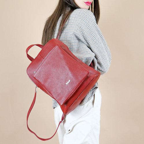 Tumbled genuine leather backpack art. 052
