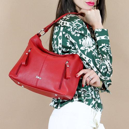 Tumbled genuine leather handbag art. 032