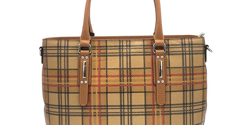 Printed genuine leather handbag art. 263