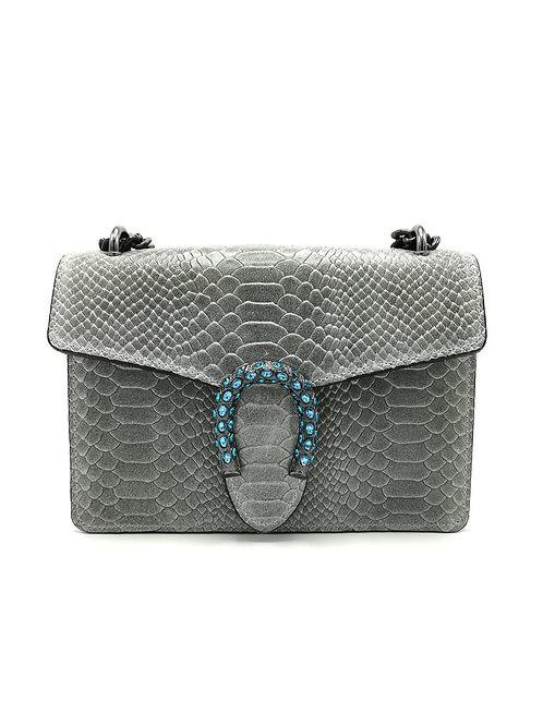 Printed genuine leather handbag art. 050