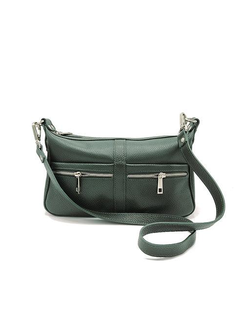 Tumbled genuine leather shoulder bag art. 275
