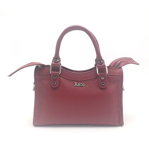 Tumbled genuine leather handbag art. 273