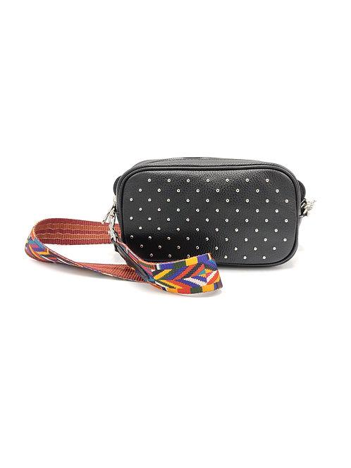 Tumbled genuine leather shoulder and belt bag art. 281