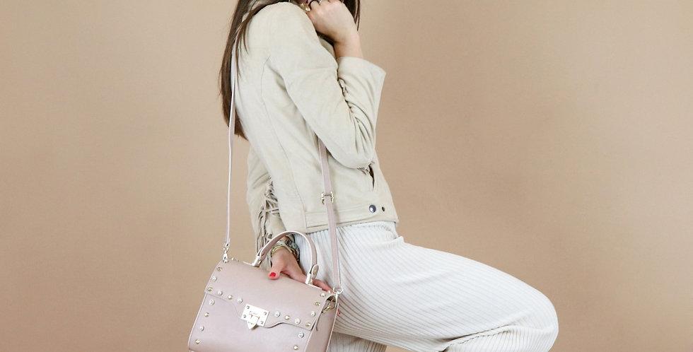 Saffiano genuine leather handbag art. 137