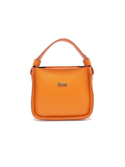 Tumbled genuine leather handbag art. 303