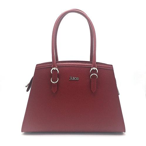 Tumbled genuine leather handbag art. 272