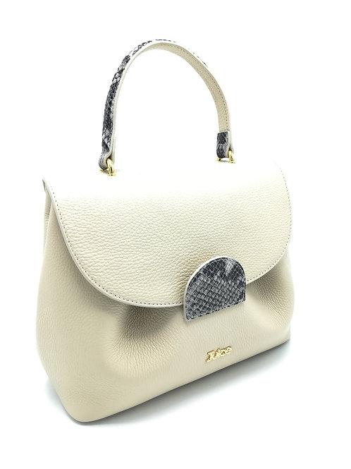 Tumbled genuine leather handbag art. 086