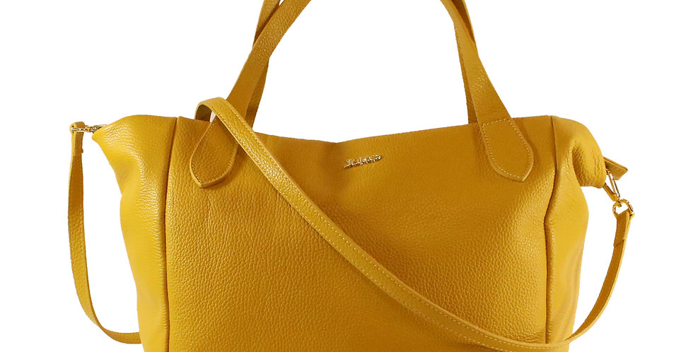 Tumbled genuine leather handbag art. 218B