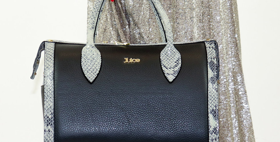 Tumbled genuine leather handbag art. 118