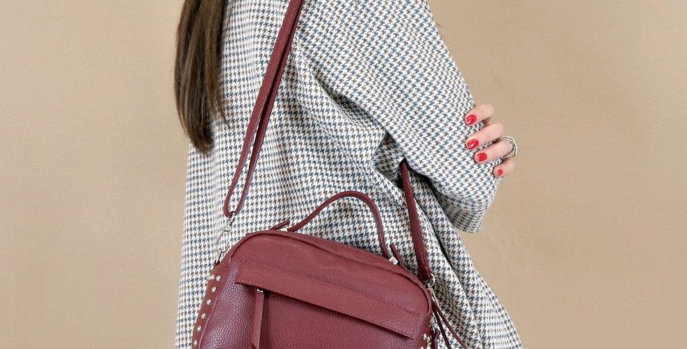 Tumbled genuine leather handbag art. 077
