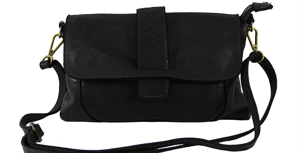 Washed genuine leather shoulder bag art. 056
