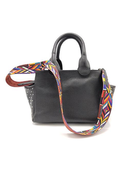 Tumbled genuine leather handbag art. 285