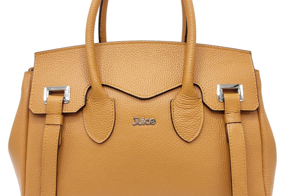 Tumbled genuine leather handbag art. 305