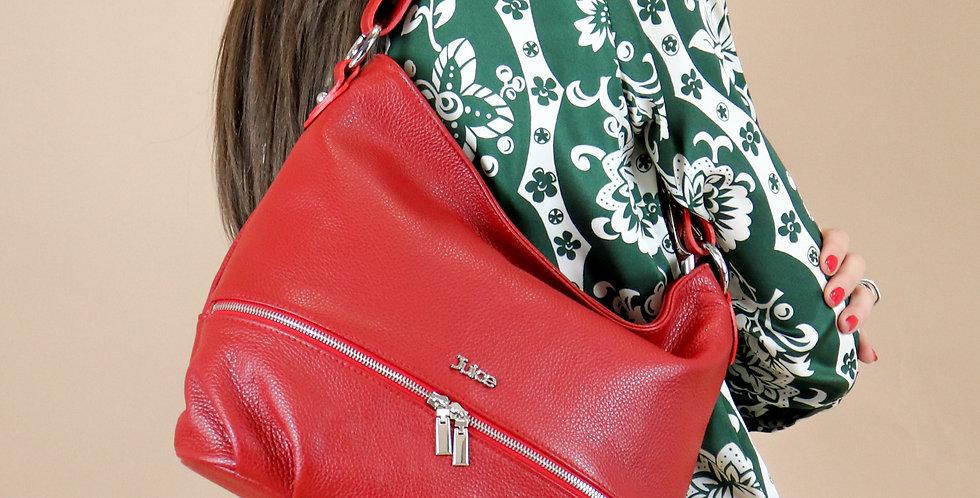 Tumbled genuine leather shoulder bag art. 007