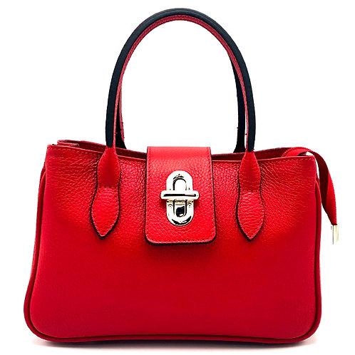 Tumbled genuine leather handbag art. 227