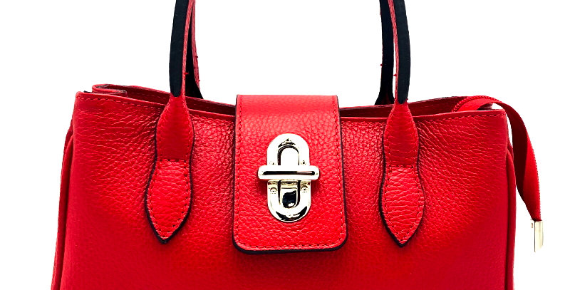 Tumbled genuine leather handbag art. 227