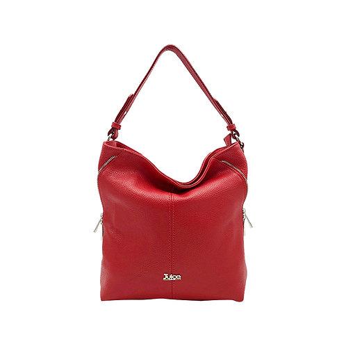 Tumbled genuine leather handbag art. 172