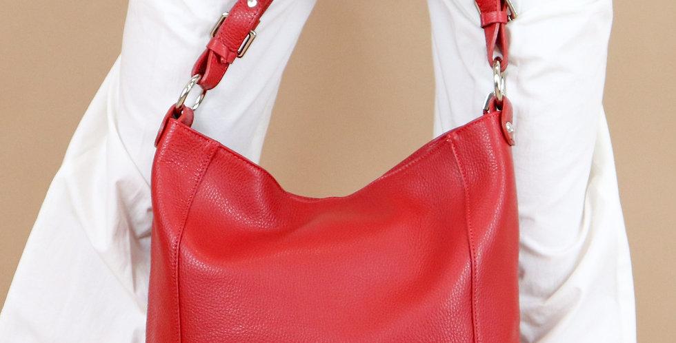 Tumbled genuine leather handbag art. 033