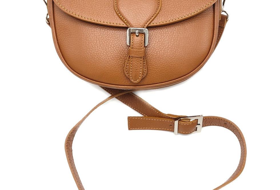 Tumbled genuine leather shoulder bag art. 315
