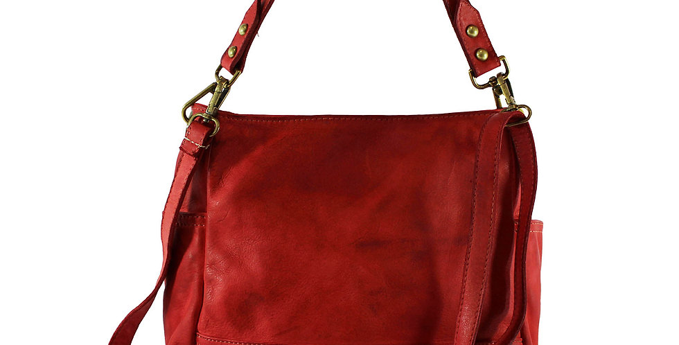 Washed genuine leather handbag art. 057