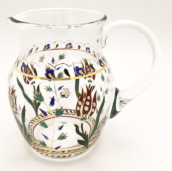 Hand-painted Pitcher Persian Flowers