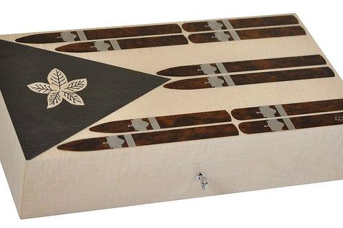 Cigar Box Cuban Flag 110 Cigars