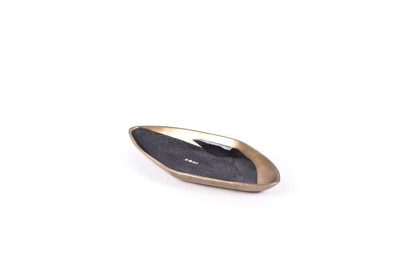 Bowl coal black shagreen