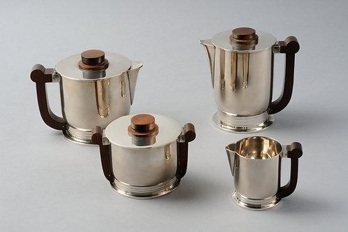 Art Deco Tea set, Sterling Silver  by Tetard Silversmith