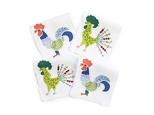 Cocktail Napkins Cockadoodle (set of 8 pieces)