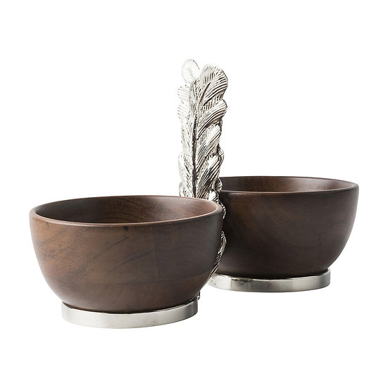Bowl duo in acacia