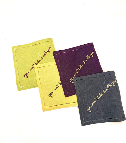 Cocktail Napkins You Can't Take it with you