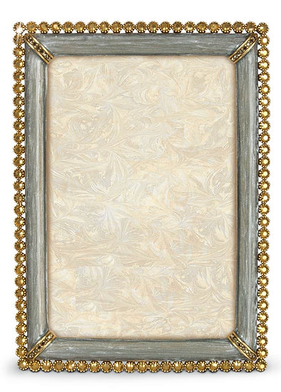 Handcrafted frame in enamel with  stones