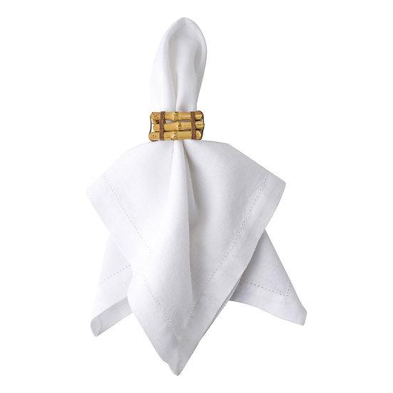 Napkin Ring Horizon Natural Gold (set for 8 persons)