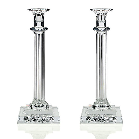Crystal candlesticks (27cm)