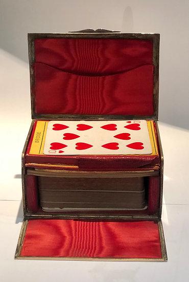 Card Box in Cheetah Print Antique
