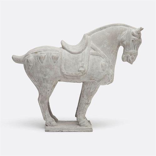 Sculpture  Horse light gray stone