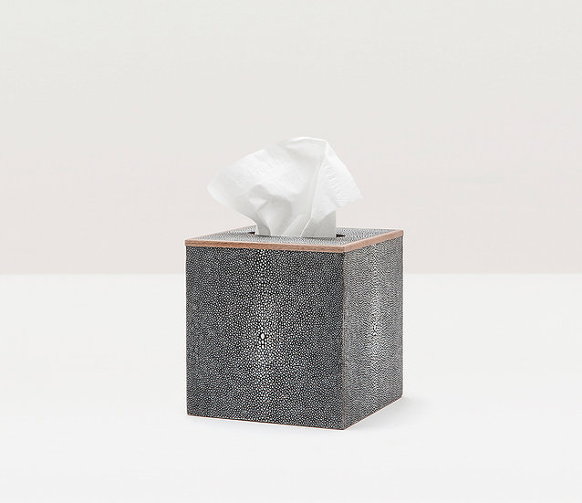 Tissue Box Gray Shagreen