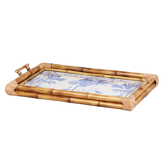 Tray in bamboo