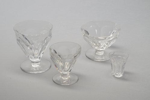 Antique Baccarat Crystal glass service of 55 Glasses France 1936
