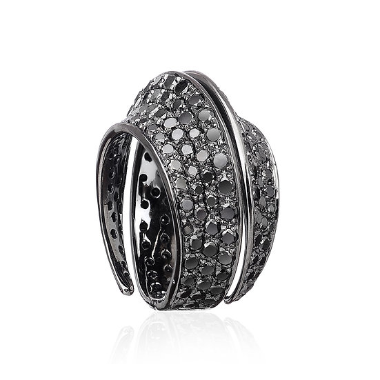 Black Gold Ring With Black Diamonds