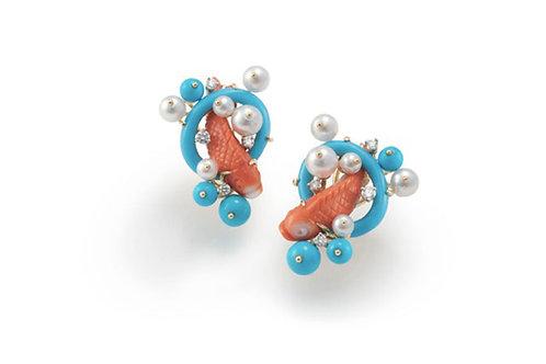 Seaman Schepps fish earrings