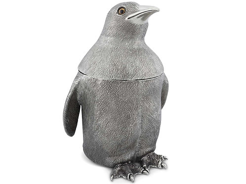 Ice bucket Penguin in pewter