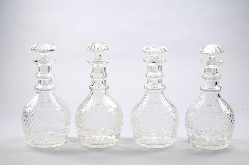 Antique Decanters (Set of 4 pieces)