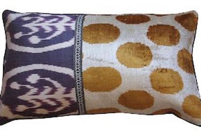 Cushion Ikat Velvet One Side 40x60cm