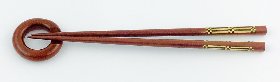 Chopsticks & Checker Board Inlay (set of 2 pieces)