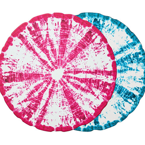 Placemat reversible in turquoise & pink  (8pcs)