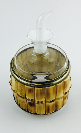 Oil Bottle Bamboo Root