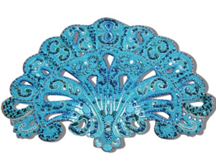 Placemat Poseidon Turquoise (set of 8 persons)